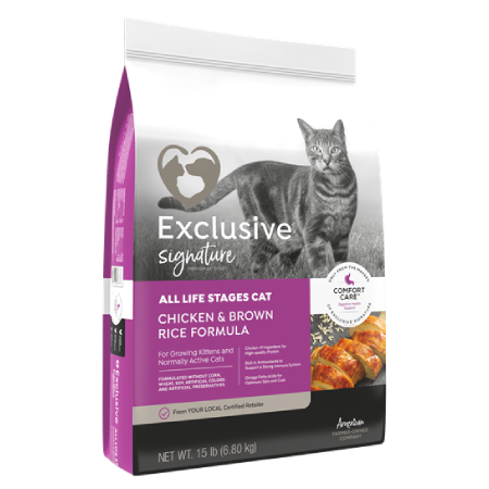 Exclusive Signature All Life Stages Chicken & Brown Rice Formula Cat Food