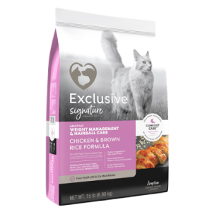 Exclusive Weight Management Hairball Control Cat Food