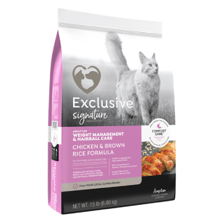 Exclusive Signature Weight Management & Hairball Care Adult Cat Chicken & Brown Rice Formula