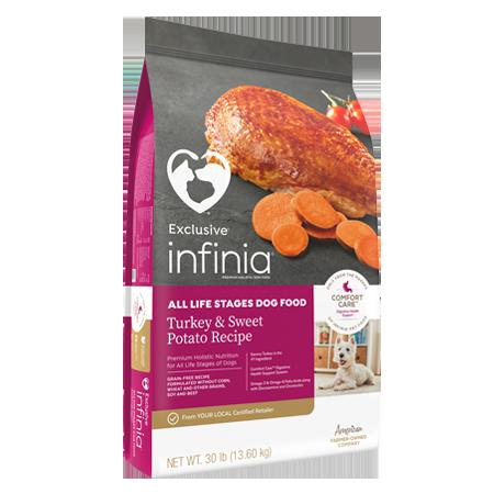 Infinia All Life Stages Dog Food Turkey & Sweet Potato Recipe