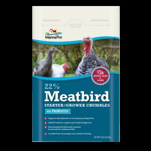 Manna Pro 22% Meatbird Starter/Grower Crumbles with Probiotics