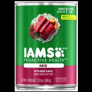 Iams Proactive Health Dog Food With Beef & Rice Pate