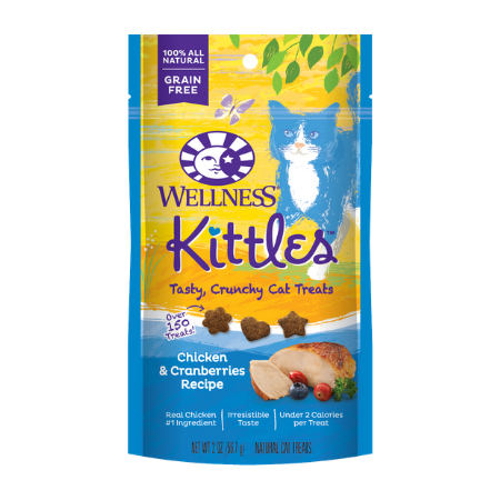 Wellness Kittles Grain-Free Chicken & Cranberries Recipe Crunchy Cat Treats