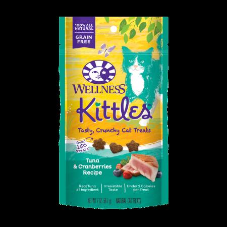 Wellness Kittles Grain-Free Tuna & Cranberries Recipe Crunchy Cat Treats