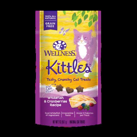 Wellness Kittles Grain-Free Whitefish & Cranberries Recipe Crunchy Cat Treats