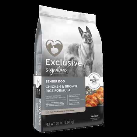 Exclusive Signature Senior Chicken & Brown Rice Formula Dog Food