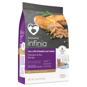 Infinia All Life Stages Cat Food Chicken & Pea Recipe