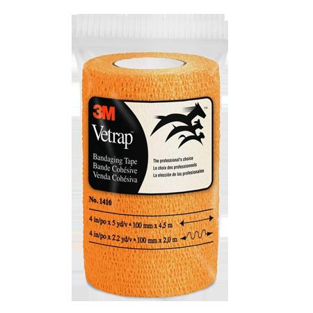 Vetrap Self-Adherent Bandaging Tape - Bright Orange