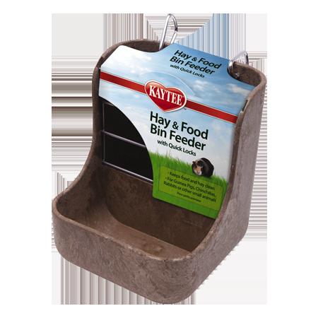 Kaytee hay & Food Bin Feeder with Quick Locks