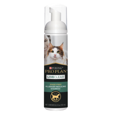 Purina Pro Plan LiveClear Rinse-Free Allergen Reducing Cat Shampoo