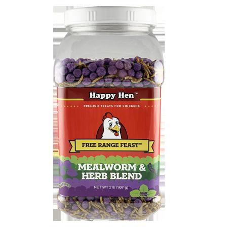 Happy Hen Treats Free Range Feast Mealworm & Herb Blend Chicken Treats