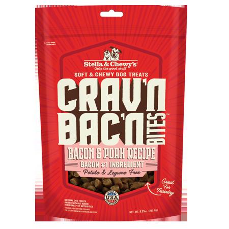 Stella & Chewy's Crav'n Bac'n Bites Bacon & Pork Recipe Dog Treats
