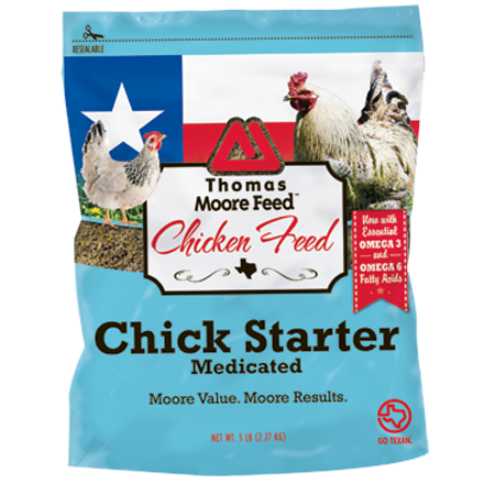 Thomas Moore Chick Starter - Medicated