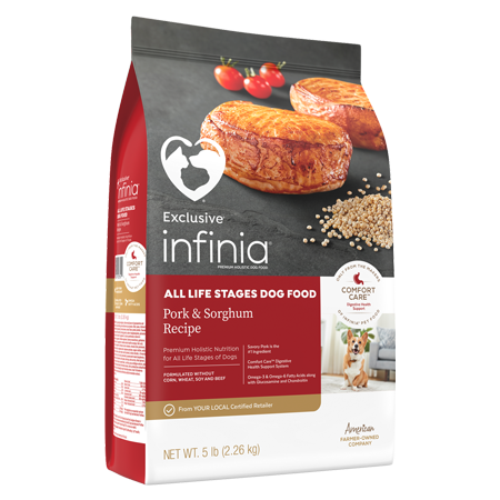 Infinia All Life Stages Dog Food Pork and Sorghum Recipe