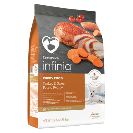 Infinia Puppy Food Turkey & Sweet Potato Recipe