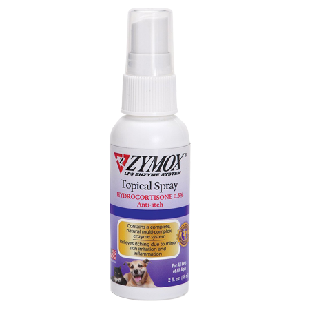 Zymox Enzymatic Topical Spray with Hydrocortisone 0.5% for Dogs & Cats