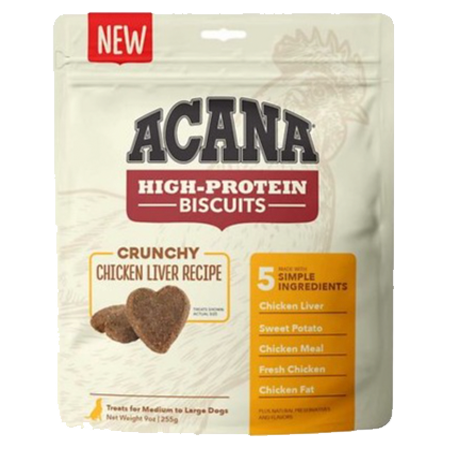 ACANA High-Protein Biscuits Crunchy Chicken Liver Recipe Dog Treats