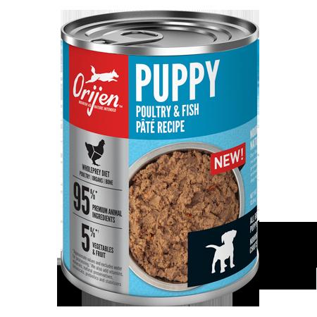 ORIJEN Premium Puppy Poultry & Fish Pâté Recipe Dog Food Can