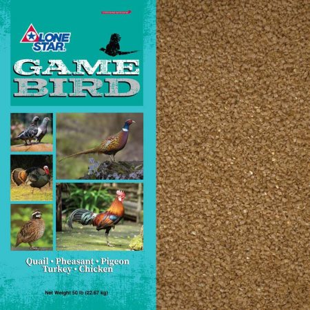 Starter feed for quail, pheasants, and turkeys. Teal feed bag.