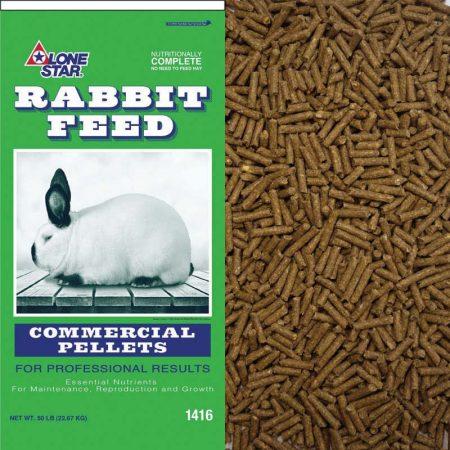 Rabbit Lone Star Rabbit Feed Commercial Ration 1416 50-lb Bag