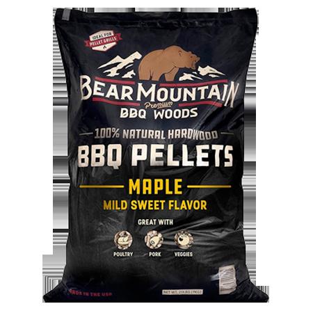 Bear Mountain Maple BBQ Pellets 20-lb Bag
