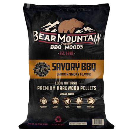 Bear Mountain Savory BBQ Craft Blends Wood Pellets 20-lb-Bag