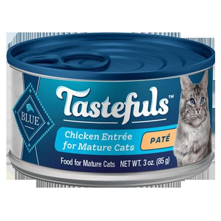 Blue Buffalo Tastefuls Chicken Entrée Mature Cats Pate Wet Cat Food, 3-oz Can