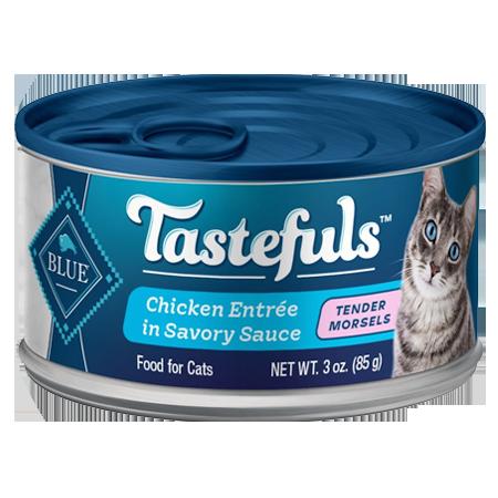 Blue Buffalo Tastefuls Tender Morsels Chicken Entrée Wet Cat Food 3-oz Can