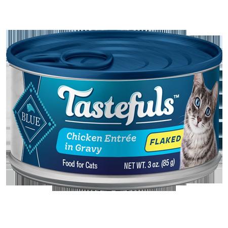 Blue Buffalo Tastefuls Chicken Entrée in Gravy Flaked Wet Cat Food 3-oz Can