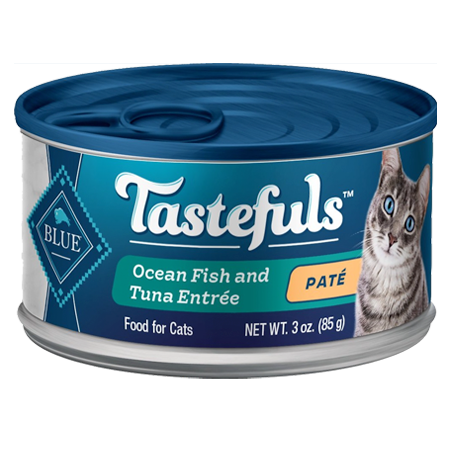 Blue Buffalo Tastefuls Ocean Fish & Tuna Entrée Pate Wet Cat Food 3-oz Can