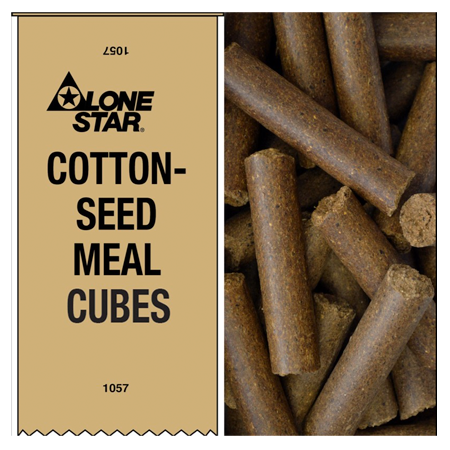 Lone Star Cottonseed Meal Cubes 1057