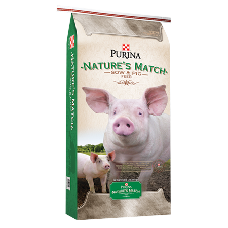 Purina Nature's Match Sow & Pig Feed 50-lb Bag