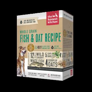 Whole Grain Dehydrated Dog Food Fish & Oats Recipe Box Case