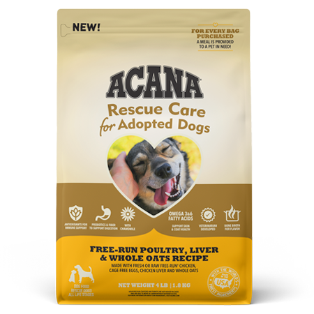 Acana Rescue Care Poultry, Liver, and Whole Oats Dry Dog Food Bag