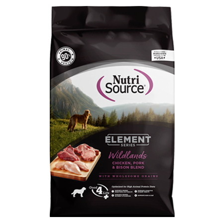 NutriSource Element Series Wildlands Dry Dog Food Bag