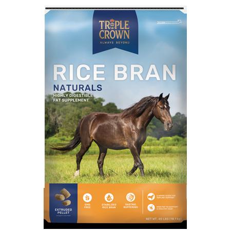 Triple Crown Naturals Rice Bran Horse Supplement 40-lb Bag
