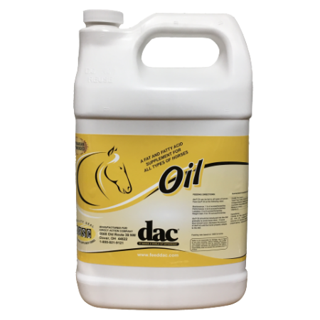 dacOil for horses. Grooming Products. White jug without pump.