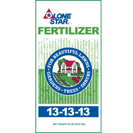 Green and white bag. Lone Star 13-13-13 Fertilizer 9773