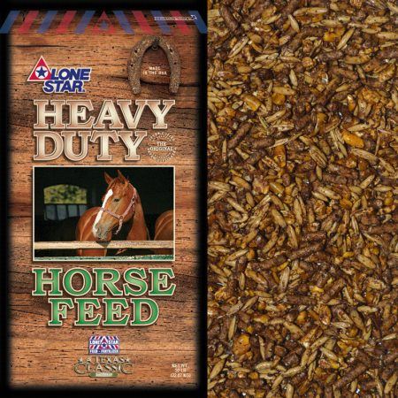 Brown and green feed bag. Textured Horse Feed. Lone Star 1026