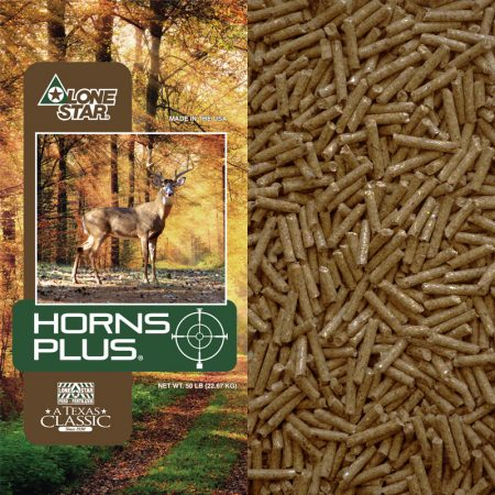 Pelleted deer feed. A protein, vitamin, and mineral supplement for deer. Lone Star 1503